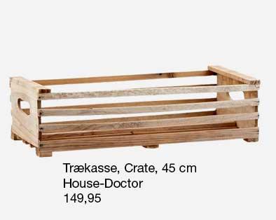 Crate trækasse fra HouseDoctor. God til løg og grøntsager far haven.