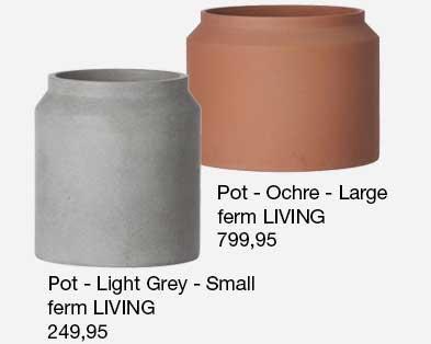 Pot er en serie smukke frostsikre krukker fra ferm LIVING. Se website for flere størrelser.