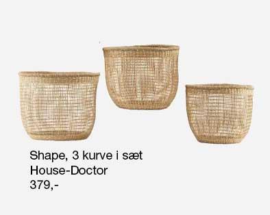 Shape kurve sæt fra House Doctor med 3 kurve til en fair pris.