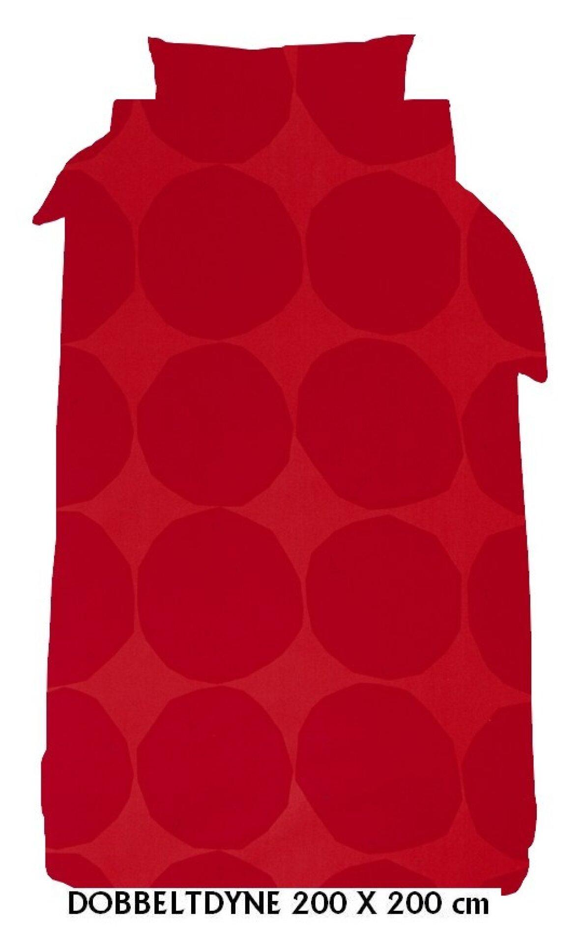 Fabriksnye Sengesæt - dobbeltdyne - Dobbeltdyne - Kivet 200x200 rød-rød fra IB-72