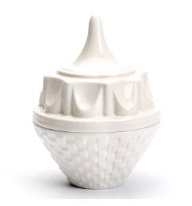 dottir NORDIC DESIGN - Krukke med låg - Hatter hvid