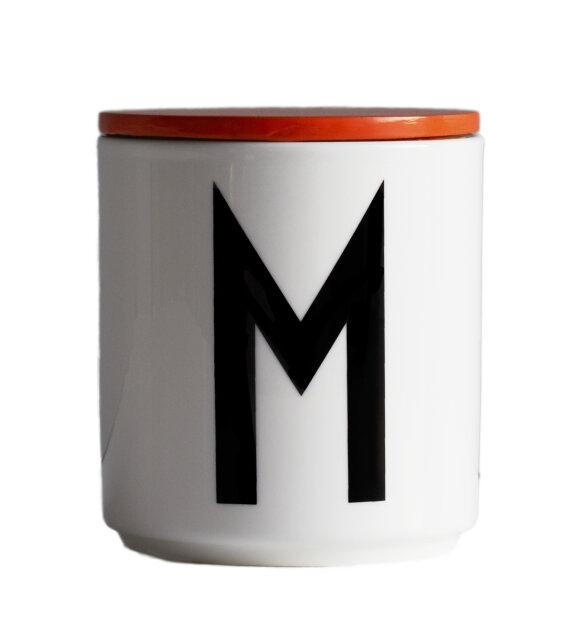 Design Letters - Trælåg til kop, orange