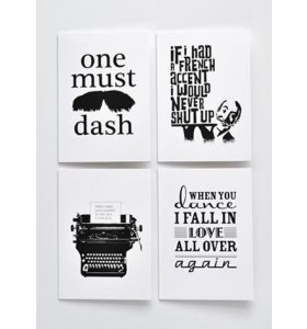 One Must Dash - artprints - Set of cards, tata, bossa...