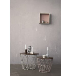 ferm LIVING - Wire Basket Top - S- Røget eg