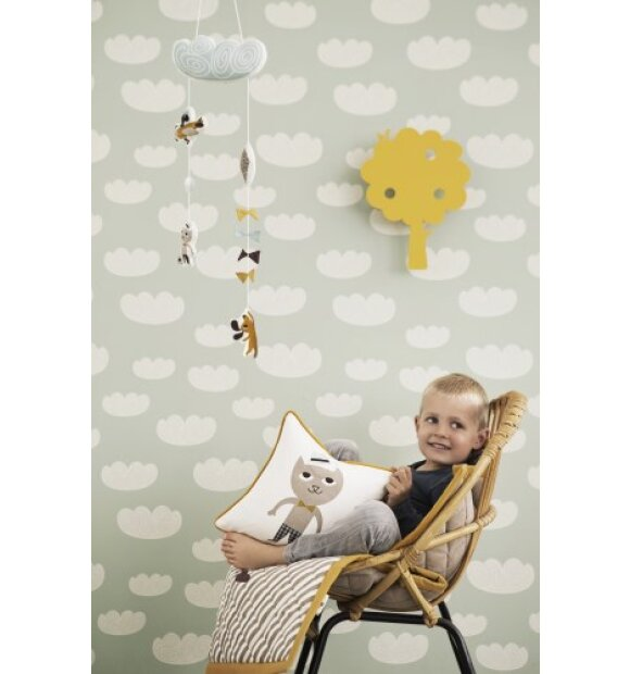 ferm LIVING Kids - Tapet, Cloud, mint - 2 sort. - plastiv emb. itu