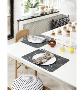 OYOY Living Design - Dækkeservietter Grey Line 2 stk.