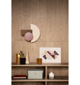 ferm LIVING - Hexagon messing vase