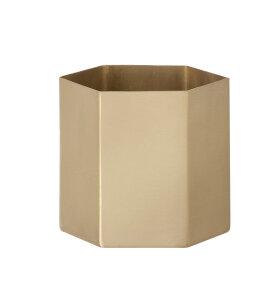 ferm LIVING - Hexagon potte messing L