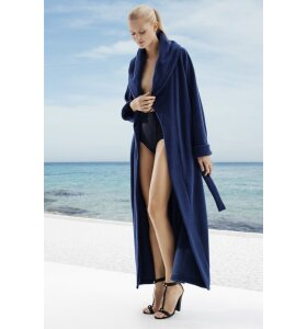Karmameju - Fleece badekåbe i blå