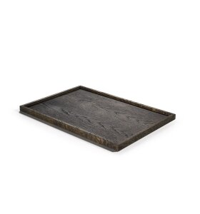 The Oak Men - Square Tray large, black oak