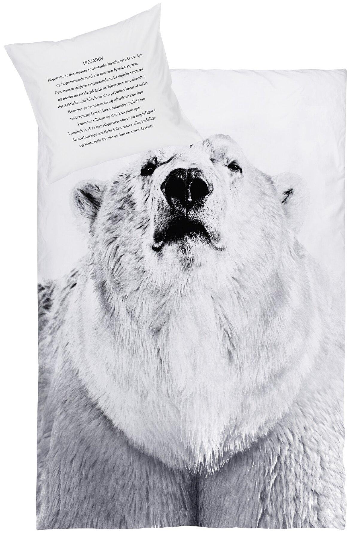 Enormt By Nord sengetøj m. isbjørn - Flot og lækkert - frit leveret i DK LT49