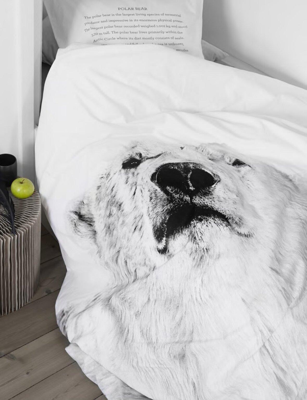 sengetøj med dyreprint