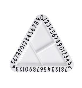Design Letters - Trekantet / Triangular Snackplate, melamin