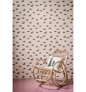 ferm LIVING Kids - Tapet, Rabbit, rose