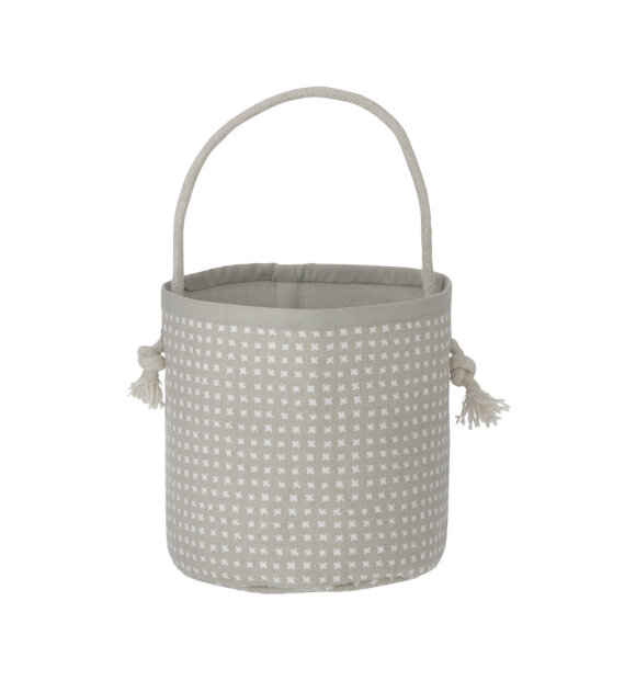 ferm LIVING Kids - Grey Cross Basket - Mini