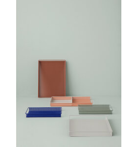 ferm LIVING - Metal Tray Small - Blue