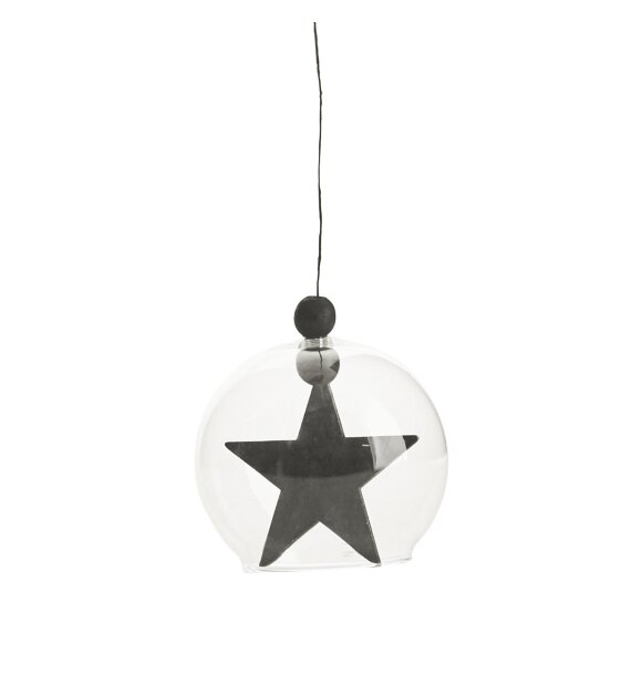 House Doctor - Ornament Hanging star, sort 8
