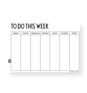 Design Letters - Weekly Planner