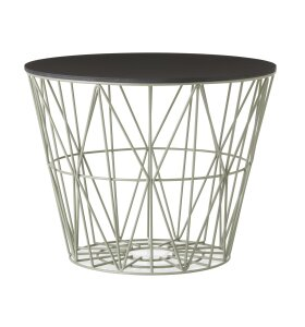 ferm LIVING - Wire Basket Top - S - Black Oak
