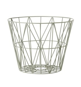 ferm LIVING - Wire Basket - Dusty green S