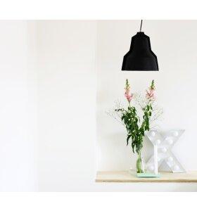 PUIK ART - Lampe Lloyd - håndlavet i sort læder