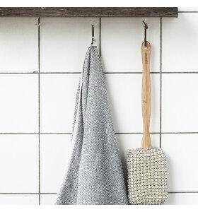 meraki - Badehåndklæde hvid/grå