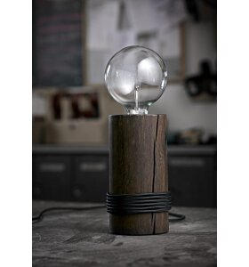 The Oak Men - Log Lamp, smoked black