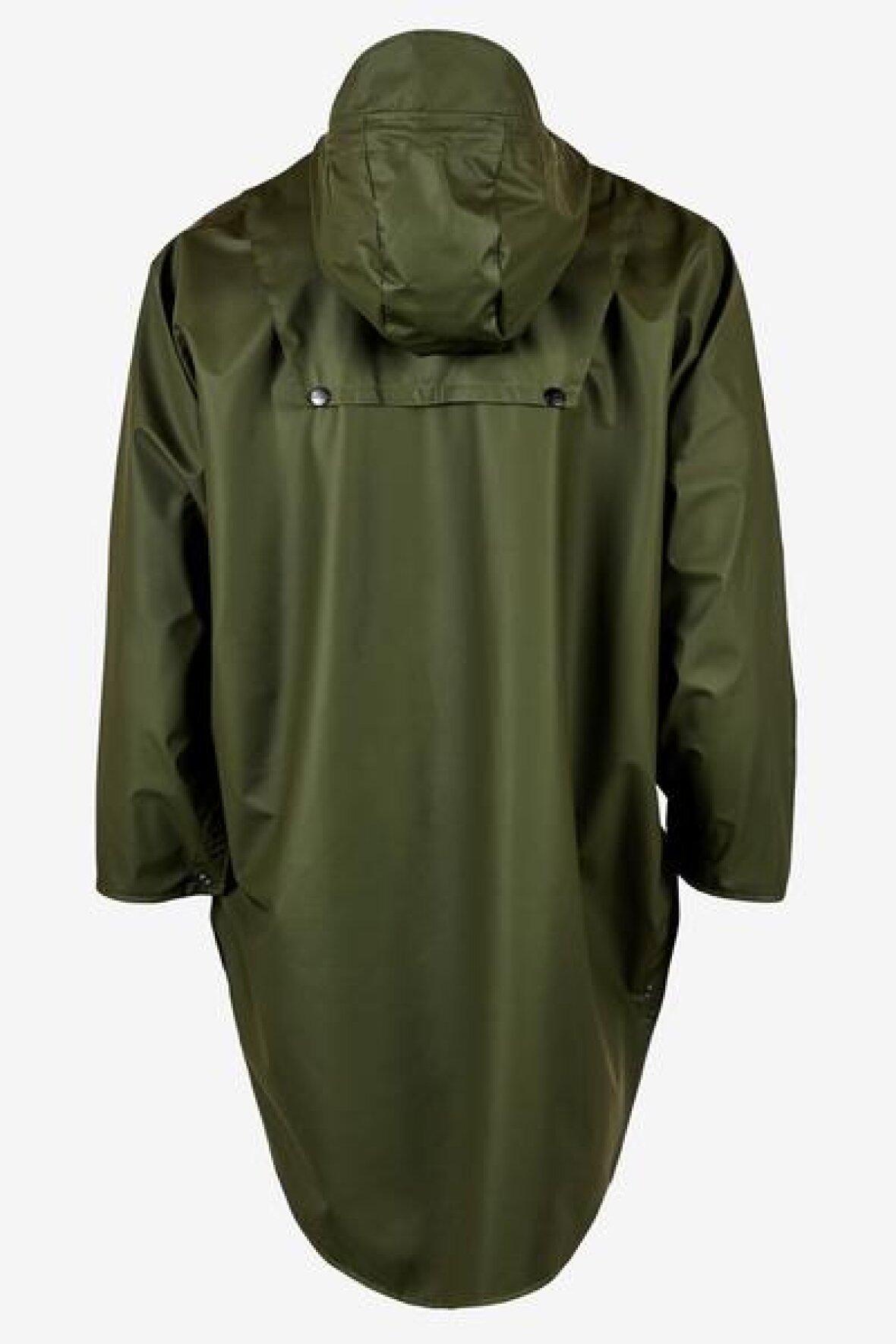 842932d04f3 RAINS - Army grøn poncho med hætte