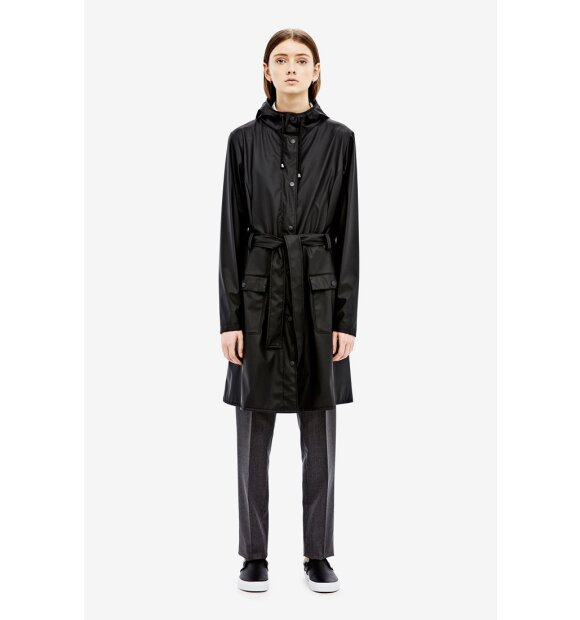Rains - Curve Jacket, sort