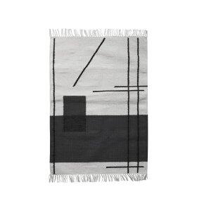 ferm LIVING - Måtte, Trace, råhvid, 60x100