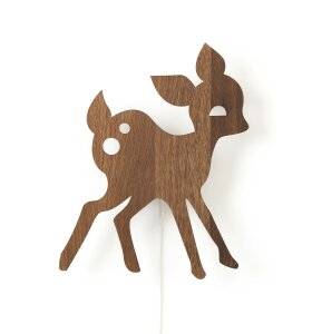 ferm LIVING Kids - My Deer Lamp, Smoked Oak