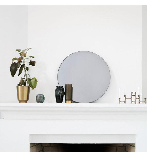 House Doctor - Spejl, Walls gråtonet  Ø50 cm