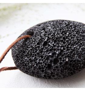 meraki - Hælsten, sort lava 7 cm.