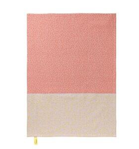nomess COPENHAGEN - Viskestykker, Splash, pink og gul, 2 stk., 50x70