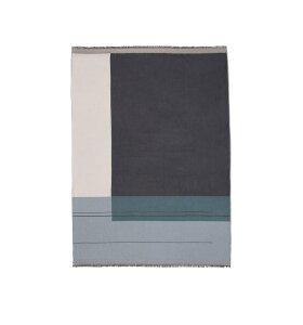 ferm LIVING - Colour Block plaid, støvet blå