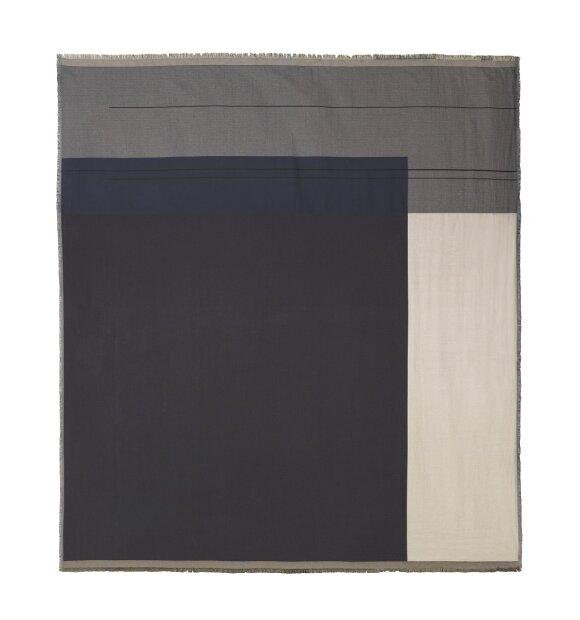 ferm LIVING - Sengetæppe, ColourBlock, grå,  240x250