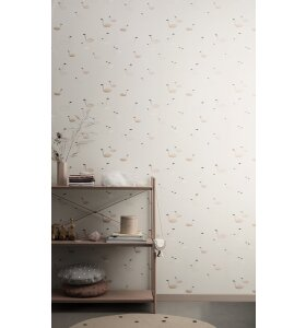 ferm LIVING Kids - Swan tapet, rosa