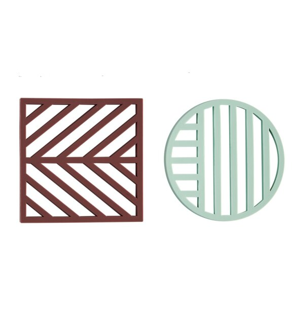 OYOY Living Design - Gotoku bordskånere M. Aubergine/Pale mint
