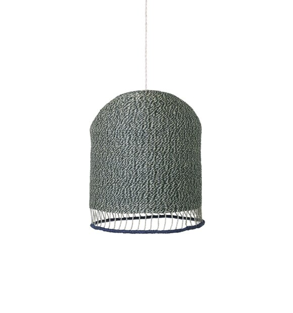 ferm LIVING Kids - Braided lampeskærm, dusty green tall