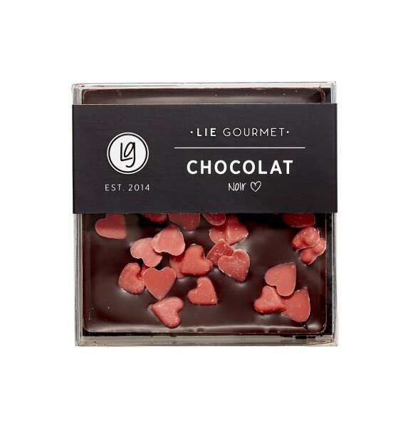 Lie Gourmet - Mørk chokolade med hjerter