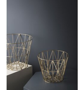 ferm LIVING - Messing Wire Basket - L - Messing