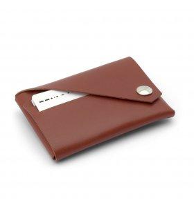 Lemur Design - Saml-selv-pung i veg. læder, Brun/cognac