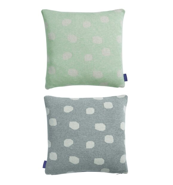 OYOY Living Design - Smilla Pude, pale mint/dark grey