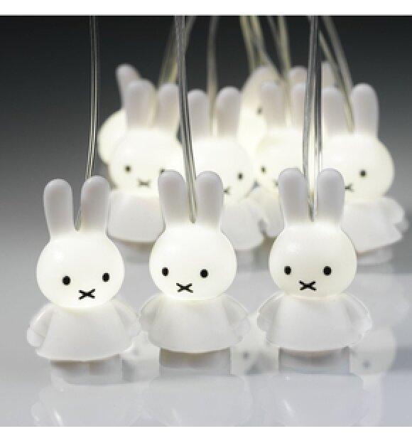 Playforever - Miffy lyskæde, hvid