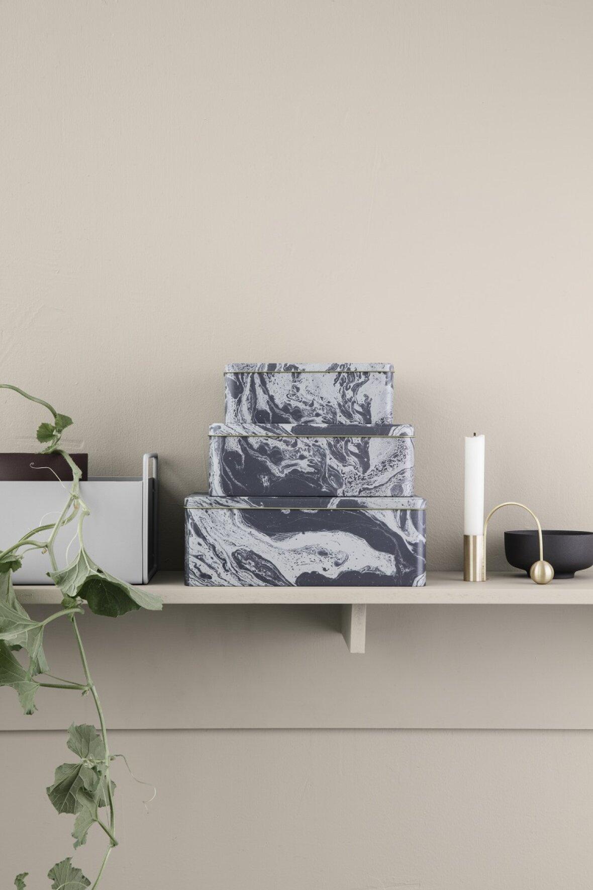 Groovy Opbevaringsdåser marmor fra Ferm Living CG74