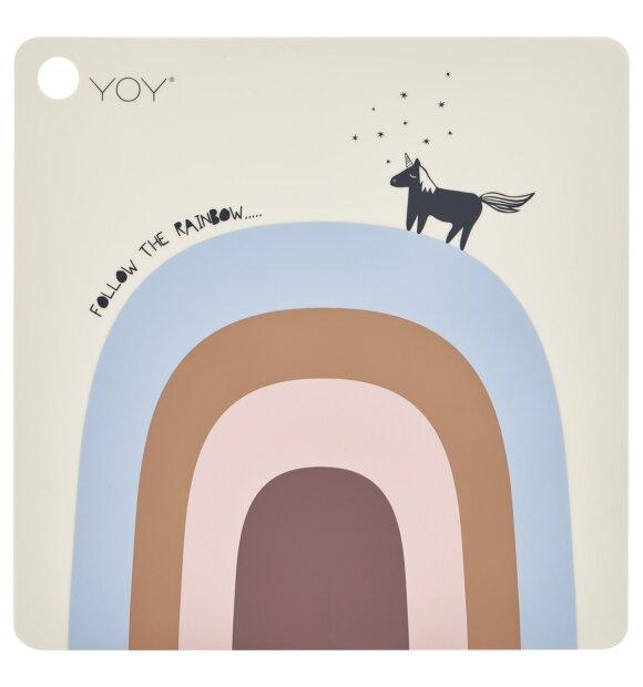 OYOY Living Design - Dækkeserviet, Follow the rainbow