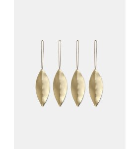 ferm LIVING - Leaf ornamenter, messing