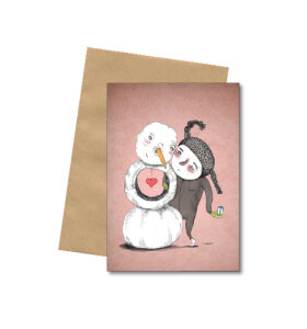 Bob Noon - Snekinder - A6 kort med kuvert