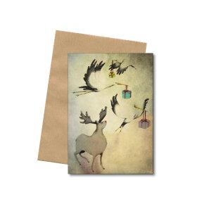 Bob Noon - Christmas - A6 kort med kuvert