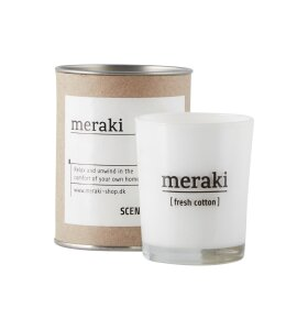 meraki - Duftlys, Fresh Cotton